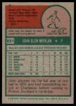 1975 Topps #651  John Morlan  Back Thumbnail