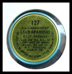 1964 Topps Coins #127   -   Luis Aparicio All-Star Back Thumbnail