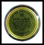 1964 Topps Coins #53   Don Lock   Back Thumbnail
