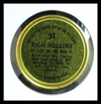 1964 Topps Coins #51   Rich Rollins   Back Thumbnail
