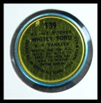 1964 Topps Coins #139   Whitey Ford  Back Thumbnail