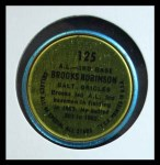 1964 Topps Coins #125   -   Brooks Robinson All-Star Back Thumbnail
