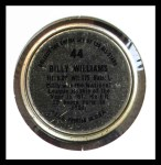 1964 Topps Coins #44   Billy Williams   Back Thumbnail