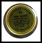 1964 Topps Coins #74   Hank Aguirre   Back Thumbnail