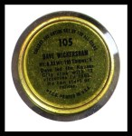 1964 Topps Coins #105   Dave Wickersham   Back Thumbnail