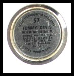 1964 Topps Coins #57  Tommy Davis  Back Thumbnail