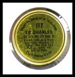 1964 Topps Coins #117  Ed Charles  Back Thumbnail