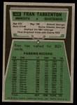 1975 Topps #400  Fran Tarkenton  Back Thumbnail