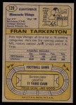 1974 Topps #129   -  Fran Tarkenton All-Pro Back Thumbnail