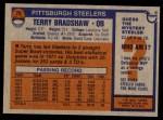 1976 Topps #75  Terry Bradshaw  Back Thumbnail