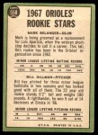1967 Topps #558   -  Mark Belanger / Bill Dillman Orioles Rookies Back Thumbnail