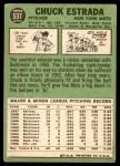 1967 Topps #537  Chuck Estrada  Back Thumbnail