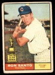 1961 Topps #35  Ron Santo  Front Thumbnail