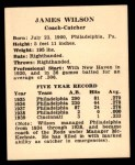 1941 Harry Hartman #29  James Wilson  Back Thumbnail