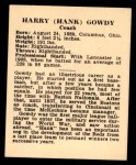 1941 Harry Hartman #8  Hank Gowdy  Back Thumbnail