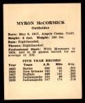 1941 Harry Hartman #16  Mike McCormick  Back Thumbnail