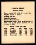 1941 Harry Hartman #6  Lonnie Frey   Back Thumbnail