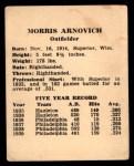 1941 Harry Hartman #1  Morrie Arnovich  Back Thumbnail