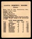 1941 Harry Hartman #18  Whitey Moore  Back Thumbnail