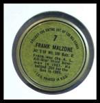 1964 Topps Coins #7   Frank Malzone   Back Thumbnail