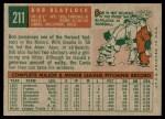 1959 Topps #211  Bob Blaylock  Back Thumbnail