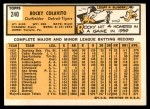 1963 Topps #240  Rocky Colavito  Back Thumbnail