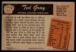 1955 Bowman #86  Ted Gray  Back Thumbnail