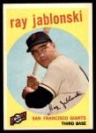 1959 Topps #342  Ray Jablonski  Front Thumbnail