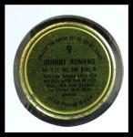 1964 Topps Coins #9  Johnny Romano  Back Thumbnail