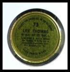 1964 Topps Coins #73   Frank Thomas   Back Thumbnail