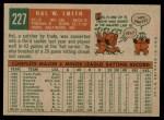 1959 Topps #227  Hal W. Smith  Back Thumbnail