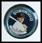 1964 Topps Coins #131 RHB  -  Mickey Mantle All-Star Front Thumbnail