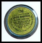 1964 Topps Coins #130   -   Leon Wagner All-Star Back Thumbnail