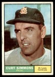 1961 Topps #11 BRE Curt Simmons  Front Thumbnail