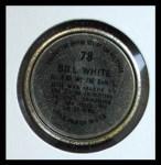 1964 Topps Coins #78   Bill White   Back Thumbnail