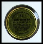 1964 Topps Coins #41   Ron Hansen   Back Thumbnail