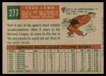 1959 Topps #277  Turk Lown  Back Thumbnail