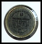 1964 Topps Coins #63   Orlando Cepeda   Back Thumbnail