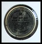 1964 Topps Coins #58   Tony Gonzalez   Back Thumbnail