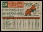 1959 Topps #253  Seth Morehead  Back Thumbnail