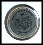 1964 Topps Coins #68   Ron Santo   Back Thumbnail