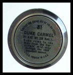 1964 Topps Coins #81   Leon Carmel   Back Thumbnail
