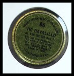 1964 Topps Coins #86   Vic Davalillo   Back Thumbnail
