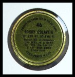 1964 Topps Coins #46   Rocky Colavito   Back Thumbnail