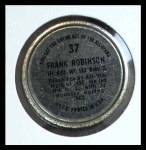 1964 Topps Coins #37   Frank Robinson   Back Thumbnail