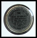 1964 Topps Coins #94  Bob Hendley  Back Thumbnail