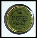 1964 Topps Coins #108  Ed Brinkman  Back Thumbnail