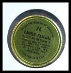 1964 Topps Coins #76   Camilo Pascual   Back Thumbnail