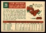 1959 Topps #29  Jim Bolger  Back Thumbnail