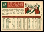 1959 Topps #42  Murray Wall  Back Thumbnail